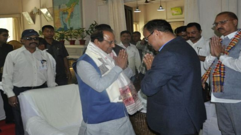 Glimpses of Governor of Assam visit to NEC, Coal India Limited, Margherita